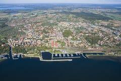 Вид с воздуха Gizycko Стоковые Фотографии RF