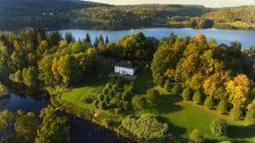 Вид с воздуха Hoveldammen в Asker, Норвегии Стоковое Изображение
