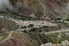 Вид с воздуха Iruya стоковые изображения
