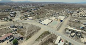 вид с воздуха 4K от самолета мексиканского города видеоматериал