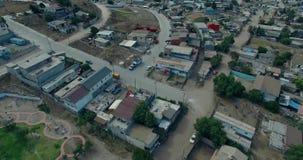 вид с воздуха 4K от самолета мексиканского города сток-видео