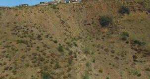 вид с воздуха 4K от самолета мексиканского каньона видеоматериал