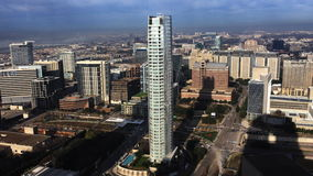 вид с воздуха 4K UltraHD центр города Далласа, Техаса видеоматериал