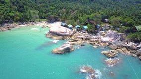 Вид с воздуха Koh Phangan Thansadet сток-видео