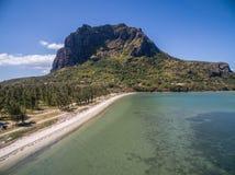 Вид с воздуха: Le Morne Брабант Стоковое Изображение