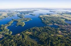 Вид с воздуха Mazury Стоковая Фотография