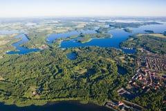 Вид с воздуха Mazury Стоковое Изображение RF