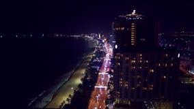 Вид с воздуха megapolis городского пейзажа ночи азиатский акции видеоматериалы