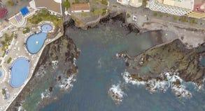 Вид с воздуха Puerto de Ла Cruz, Тенерифе Стоковое фото RF