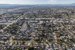 Вид с воздуха Sun Valley в Лос-Анджелесе Калифорнии стоковые фото
