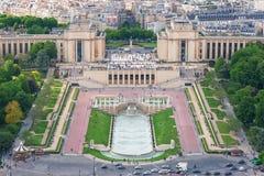 Вид с воздуха Trocadero Стоковое фото RF
