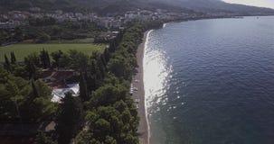Вид с воздуха Tucepi видеоматериал