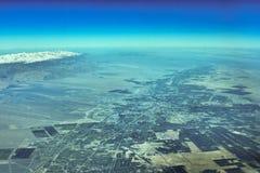 Вид с воздуха Urumqi Стоковая Фотография RF