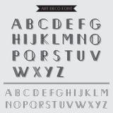 Вид шрифта стиля Арт Деко Стоковая Фотография