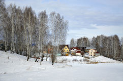 Виллы в зиме, Новосибирск Стоковое Фото
