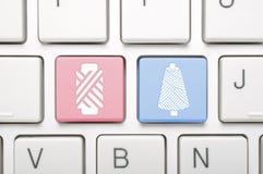 Виды кудели потока на клавиатуре стоковое фото rf