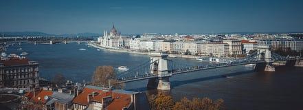 Виды на город Будапешта Стоковые Изображения RF