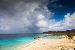 Виды на море вокруг острова Curacao карибского стоковые изображения rf
