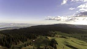 Виды на озеро над Женевой, Швейцарией Стоковое Изображение