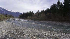 Виды с воздуха реки melt снега весны Стоковое Изображение