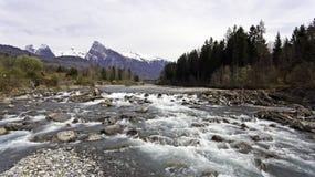 Виды с воздуха реки melt снега весны Стоковое фото RF