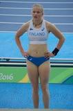 Вильма Murto, финский шестовик на Rio2016 Стоковые Изображения RF