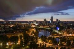 Вильнюс, Литва, Европа, взгляд от холма gediminas стоковые изображения rf