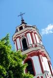 Вильнюс, Литва Католическая церковь в Вильнюсе, столице Литвы, Восточной Европы Стоковые Фотографии RF