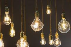 Вид электрической лампочки СИД от потолка Стоковое Изображение