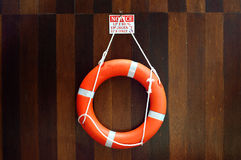Вид Lifebuoy на стене Стоковая Фотография RF