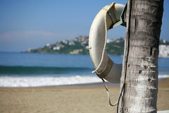 вкладчик жизни пляжа Стоковая Фотография RF