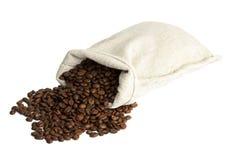 вкладыш кофе мешковины фасолей Стоковые Фото