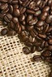 вкладыш кофе холстины фасолей Стоковая Фотография RF