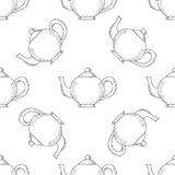 Вкладыш чайника безшовный иллюстрация вектора