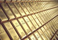 Вклад бара золота 1000 граммов стоковые фото