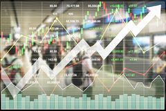 Вклад фондового индекса финансовый успешный на транспорте стоковые изображения rf