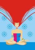 включенная йога девушки Стоковая Фотография RF