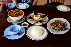 вкусная еда тайская стоковые фото