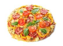Вкусная итальянская изолированная пицца Стоковые Фотографии RF