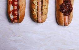 вкусная собака горячая Стоковая Фотография RF