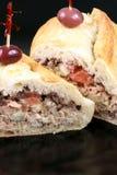 вкусная среднеземноморская туна сандвича Стоковая Фотография RF
