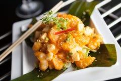 Вкусная тайская плита креветки Стоковое Изображение