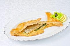 Вкусная тарелка рыб форели Стоковое фото RF