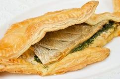 Вкусная тарелка рыб форели Стоковое Изображение RF