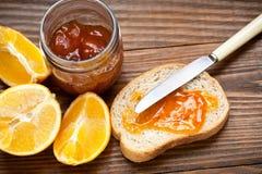Вкусное варенье с апельсинами Стоковые Изображения