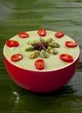 Вкусное душистое зеленое карри фисташки кокоса Стоковая Фотография