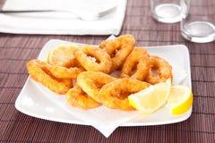 вкусное зажаренное calamari стоковые изображения