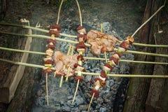 вкусное зажженное мясо Стоковая Фотография