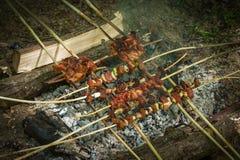 вкусное зажженное мясо Стоковое Фото