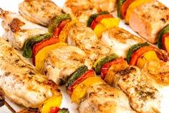 Вкусное зажженное мясо, kebab shish Стоковое Изображение RF